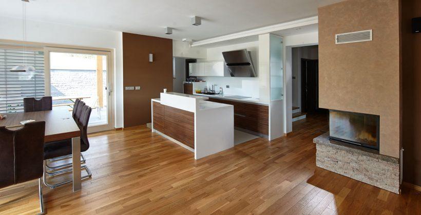 Parketová podlaha do kuchyně